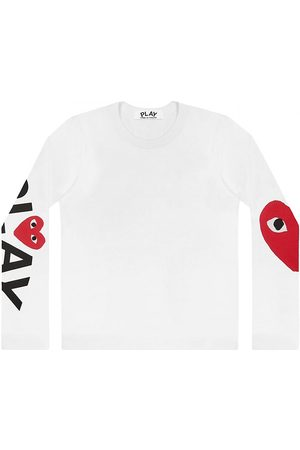 Comme des Garçons Women's Play Logo Long-Sleeve T-Shirt - - Size Medium
