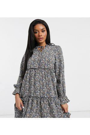 Y.A.S Y.A.S. Petite Aja printed mini smock dress in multi