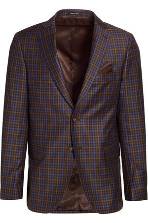 Saks Fifth Avenue Men's COLLECTION Pop Plaid Wool Sportcoat - - Size 38 S
