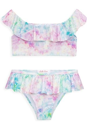 STELLA COVE Little Girl's & Girl's Ruffled Tie-Dye Two-Piece Swimsuit