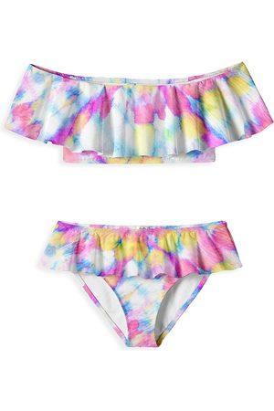 STELLA COVE Little Girls & Girl's Whirl Draped Swim Set
