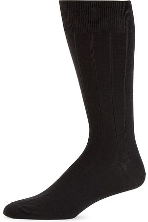 Saks Fifth Avenue Men's COLLECTION Wide Rib Wool-Blend Crew Socks