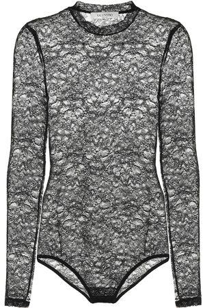 VALENTINO Stretch-lace bodysuit