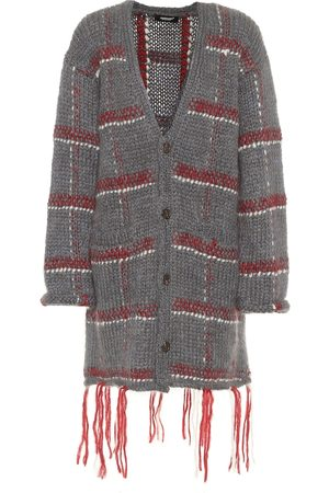 UNDERCOVER Checked mohair-blend cardigan