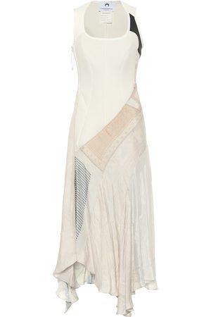 Marine Serre Printed silk midi dress