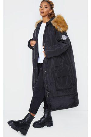 PRETTYLITTLETHING Maxi Hooded Parka Jacket