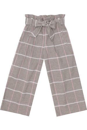 Brunello Cucinelli Checked stretch-cotton paperbag pants