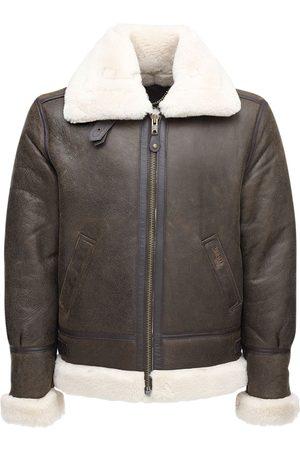 Schott NYC Shearling Aviator Jacket
