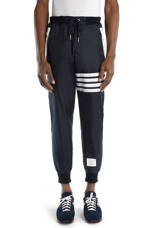 Thom Browne Men's Stripe Cashmere & Cotton Sweatpants - - Size Small