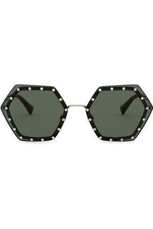 VALENTINO Women Sunglasses - Women's 62MM Embellished Hexagon Sunglasses