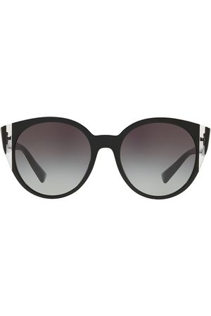VALENTINO Women's VA4038 Grad Blue 55MM Round Sunglasses