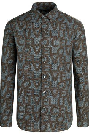 Bugatchi Men Shirts - Men's Shaped Fit Love Print Button-Up Shirt