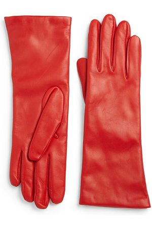 All Gloves Women's Cashmere-Lined Leather Gloves - - Size 7