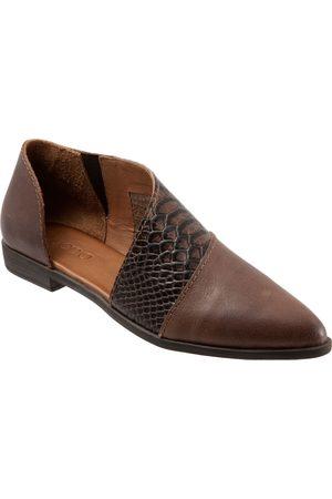 Bueno Women's Blake Half D'Orsay Leather Flat