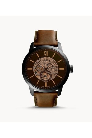 Fossil Men's Townsman 48Mm Automatic Leather Watch