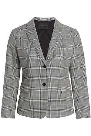 Lafayette 148 New York Women's Thatcher Glen Plaid Stretch-Wool Blazer - Multi - Size 22