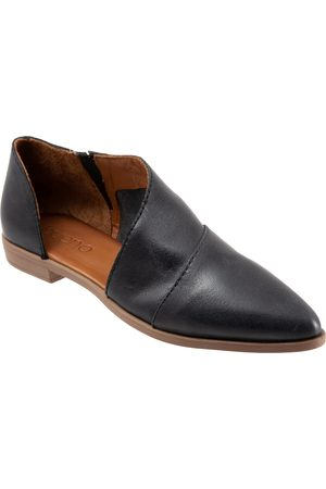 Bueno Women's Blake Half D'Orsay Leather Flat