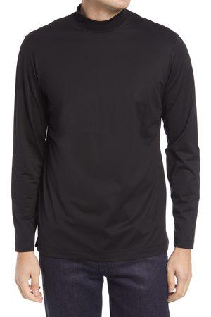 Bugatchi Men's Ooohcotton Long Sleeve Mock Neck Tech T-Shirt