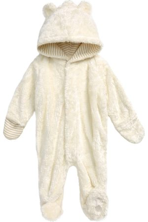 Magnetic Me Infant Girl's Egret Minky Fleece One-Piece Hooded Bunting