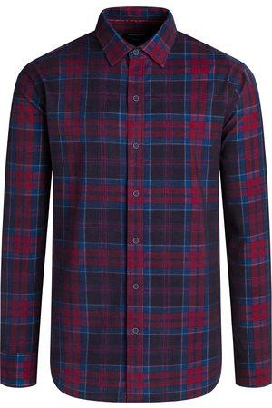 Bugatchi Men's Shaped Fit Plaid Corduroy Button-Up Shirt