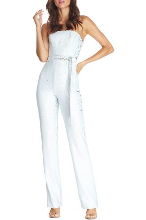 Dress The Population Women's Trinity Strapless Sequin Jumpsuit