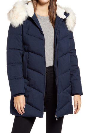 Sam Edelman Women's Faux Fur Trim Quilted Parka