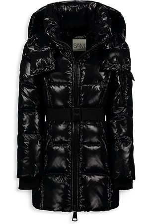 SAM. Girls Puffer Jackets - Girl's Soho Belted Down Mid-Length Jacket - - Size 10