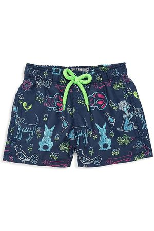 Vilebrequin Little Boy's & Boy's x Florence Broadhurst Rabbits and Poodles Swim Trunks - - Size 12