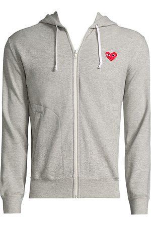 Comme des Garçons Women's Play Zip Hooded Sweater - - Size XS