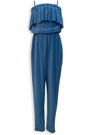Un Deux Trois Girl's Tiered Tapered Jumpsuit - - Size Medium (10)
