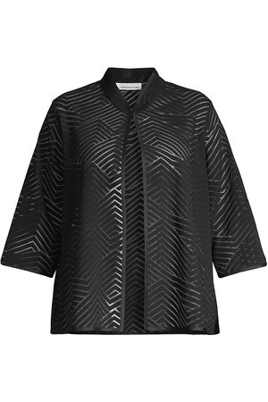 Caroline Rose Women's Shadow Chevron Easy A-Line Jacket - - Size 2X (18-20)