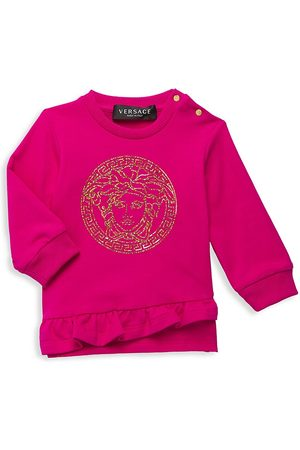 VERSACE Baby Girl's Metallic Graphic Sweater - - Size 6-9 Months