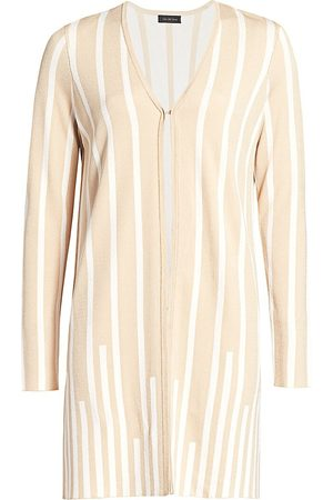 Saks Fifth Avenue Women's COLLECTION Plaited Stripe Open-Front Cardigan - - Size Small