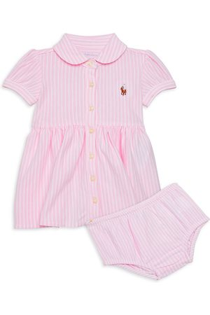 Ralph Lauren Baby Girl's 2-Piece Oxford Shirtdress & Bloomers Set - - Size 9 Months