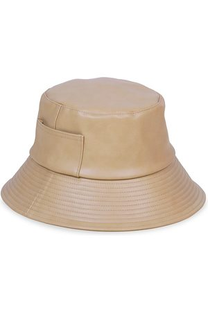 Lack of Color Women's Wave Faux-Leather Bucket Hat - - Size Medium-Large