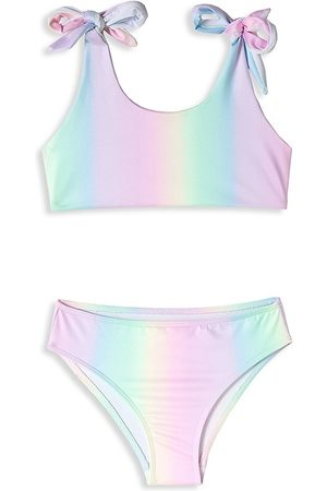 STELLA COVE Little Girl's & Girl's 2-Piece UPF 50+ Tie-Shoulder Bikini Set - - Size 12