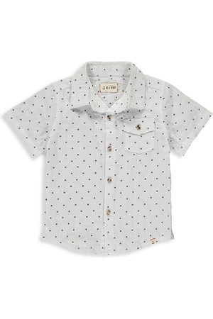 Me & Henry Little Boy's & Boy's Dot Short Sleeve Shirt - - Size 9-10