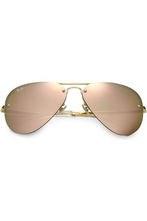 Ray-Ban Women's RB3449 59MM Mirrored Semi-Rimless Aviator Sunglasses
