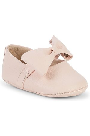 Elephantito Baby Girl's Leather Bow Ballerina Shoes - - Size 4 (Baby)