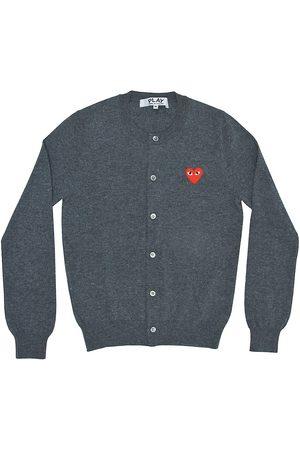 Comme des Garçons Women's Heart Wool Cardigan - - Size Small