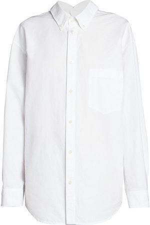 Balenciaga Women's Double Front Poplin Shirt - - Size 42 (8)