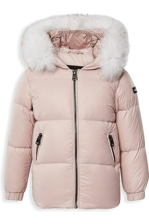 Mackage Baby Girl's Morgan Lustrous Fox Fur-Hood Down Parka - - Size 12 Months