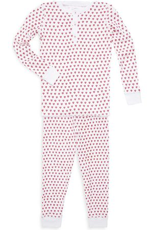 Roller Rabbit Baby's, Little Kid's & Kid's Two-Piece Hearts Cotton Pajama Top & Pants Set - - Size 10