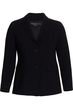 Persona by Marina Rinaldi Women's Carbone Pinstripe Blazer Jacket - - Size 16W