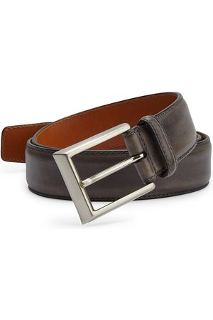 Saks Fifth Avenue Men's COLLECTION BY MAGNANNI Burnished Leather Belt - - Size 42