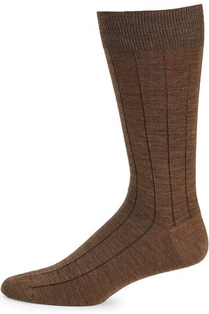 Saks Fifth Avenue Men's COLLECTION Wide Rib Wool-Blend Crew Socks
