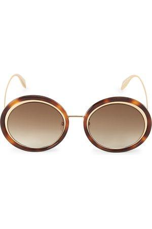 Alexander McQueen Women's 53MM Retro Mod Round Sunglasses