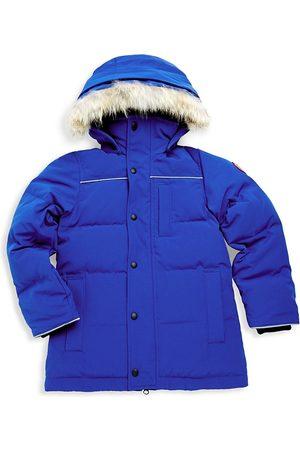 Canada Goose Kid's Eakin Fur Trimmed Quilted Parka - - Size Medium (10-12)