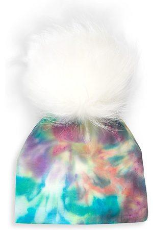 Bari Lynn Tie Dye Fur Pom Hat