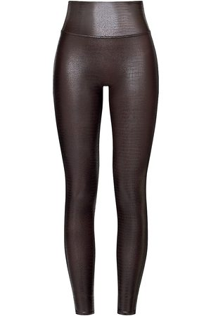 Spanx Women's High-Rise Faux Leather Leggings - - Size Small